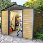 9'11 x 6'5 Yardmaster Balmoral Metal Shed 106WGL+ With Floor Support Kit