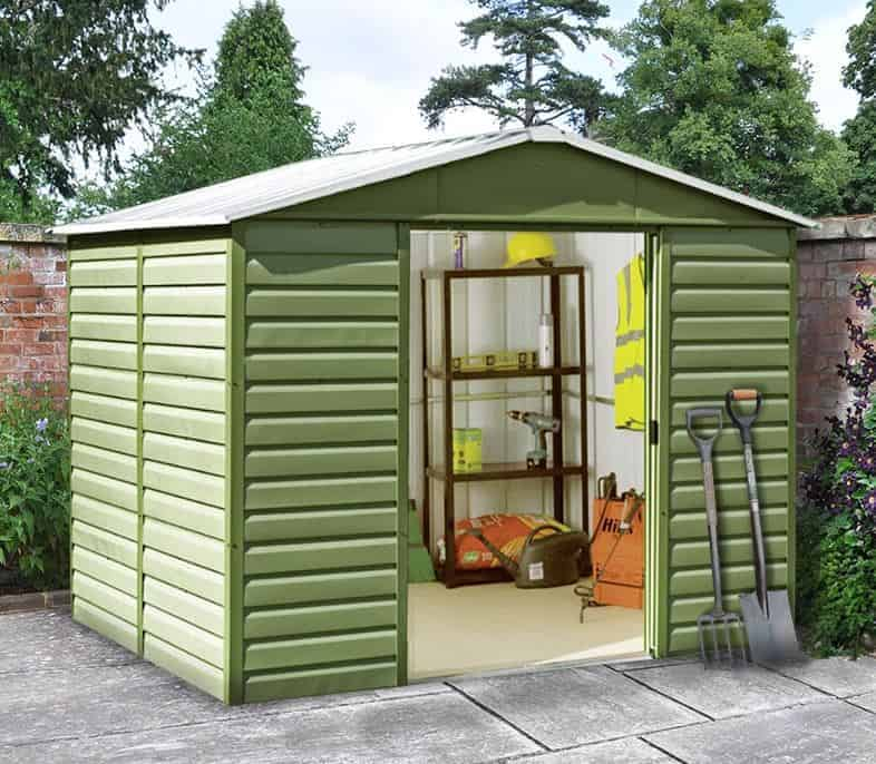 9'11 x 6'6 Yardmaster Shiplap Metal Shed 106SL+ With Floor Support Kit