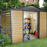 9'11 x 7'9 Yardmaster Balmoral Metal Shed 108WGL+ With Floor Support Kit