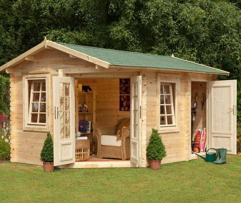 9'x13'ft Berkshire Bucklebury 34mm Log Cabin