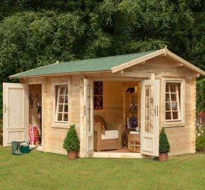9'x13'ft Berkshire Thatcham 34mm Log Cabin