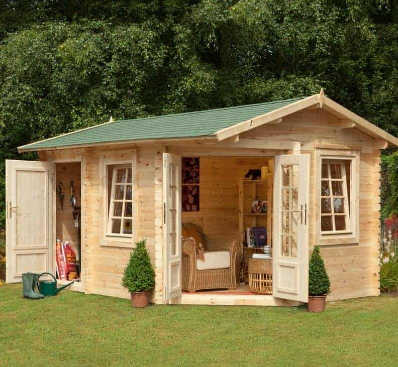 9'x13'ft Berkshire Thatcham 34mm Log Cabin