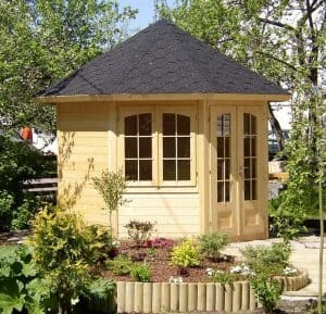 9'x9' Palmako Veronica 28mm Log Cabin - 2 Windows