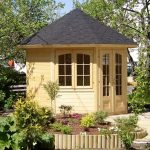9'x9' Palmako Veronica 28mm Log Cabin - 4 Windows