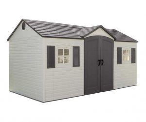 Lifetime 15ft x 8ft Reverse Apex Plastic Shed