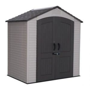 Lifetime 7 x 4.5 Apex Plastic Shed Closed Door