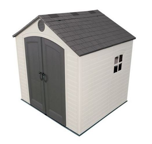Lifetime 8ft x 7.5ft Apex Plastic Shed
