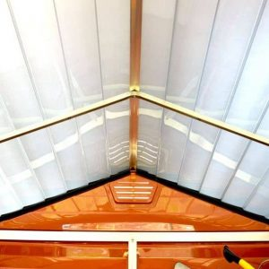 Palram Skylight 6 x 12 Amber Plastic Shed - Free Floor - Roofing and Air Vent