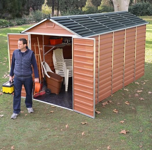 Palram Skylight 6 x 12 Amber Plastic Shed