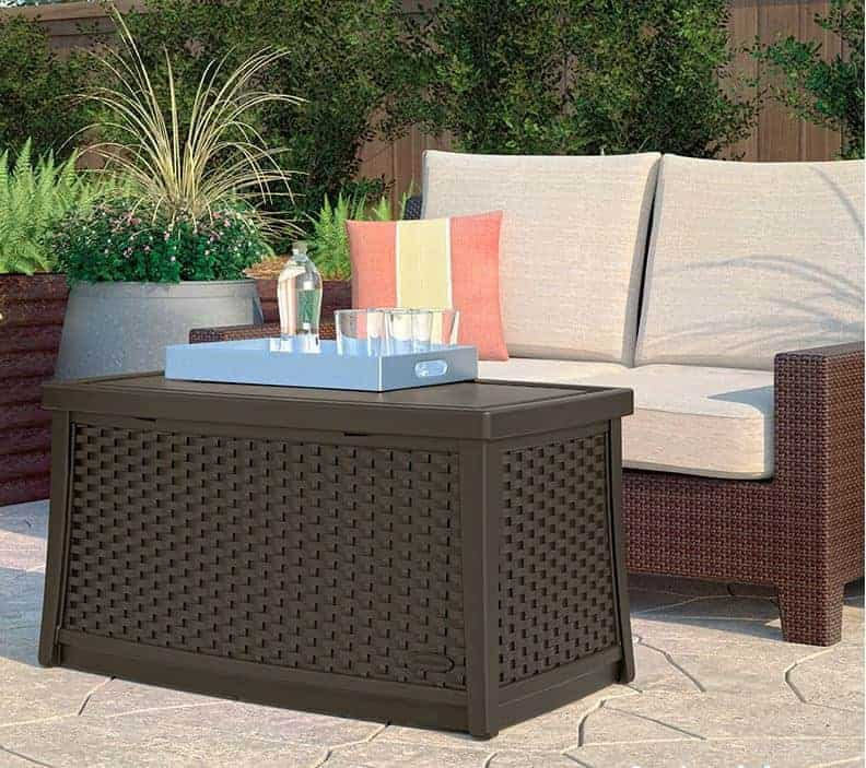 Suncast Coffee Table with Storage