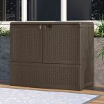 Suncast Vertical Deck Box with Shelf