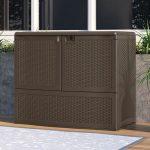 Suncast Vertical Deck Box with Shelf