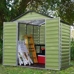 Waltons 6 x 5 Green Skylight Plastic Shed