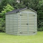 Waltons 6 x 8 Green Skylight Plastic Shed Closed Doors