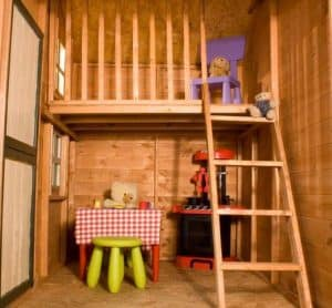 Windsor Snowdrop Cottage Playhouse - 5' x 7' Inside View