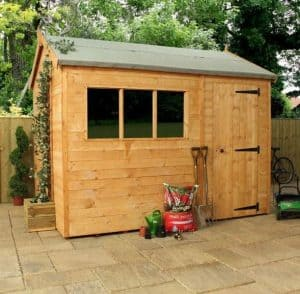 Woodland Trust 10 x 8 Heritage Reverse Apex Garden Shed side