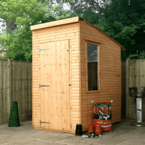 Woodland Trust 6 x 4 Kurva Curved Roof Shed Overall Appearance