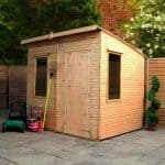 Woodland Trust 6 x 8 Kurva Curved Roof Shed