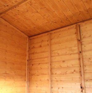 Woodland Trust 6 x 8 Kurva Curved Roof Shed Internal View