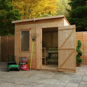 Woodland Trust 6 x 8 Kurva Curved Roof Shed Overall Appearance