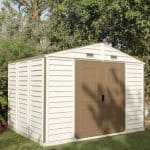 Woodside 10ft x 8ft Vinyl Clad Apex Shed