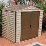 Woodside 8ft x 6ft Vinyl Clad Apex Shed