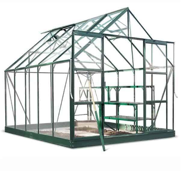 10 x 8 Halls Green Aluminium Magnum Greenhouse with Vent