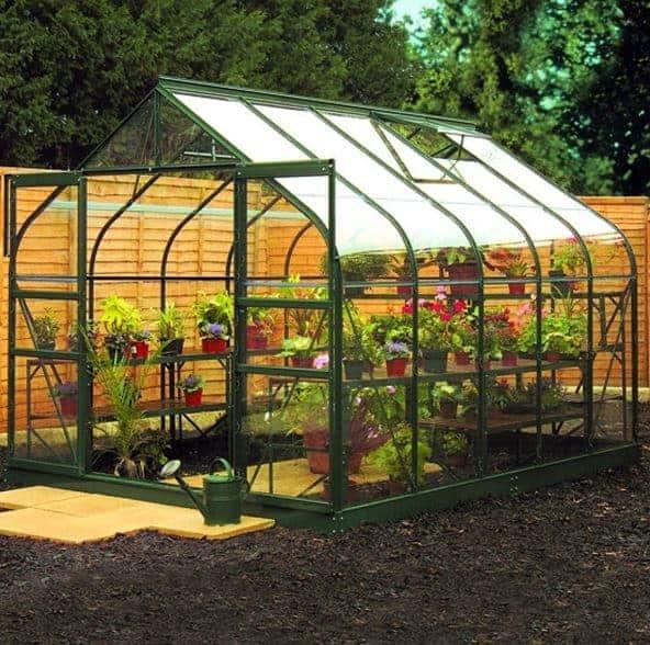 10 x 8 Halls Green Aluminium Supreme Greenhouse with Vent