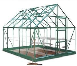 10 x 8 Halls Green Aluminium Universal Greenhouse with Vent