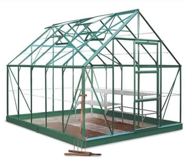 10 x 8 Halls Green Aluminium Universal Greenhouse with Vent
