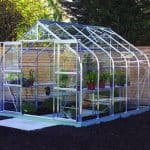 10 x 8 Halls Silver Aluminium Supreme Greenhouse with Vent