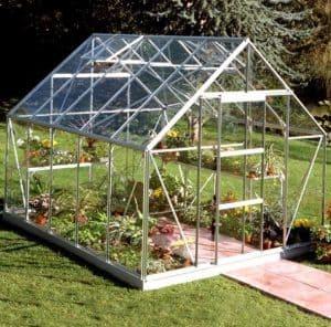 10 x 8 Halls Silver Aluminium Universal Greenhouse with Vent