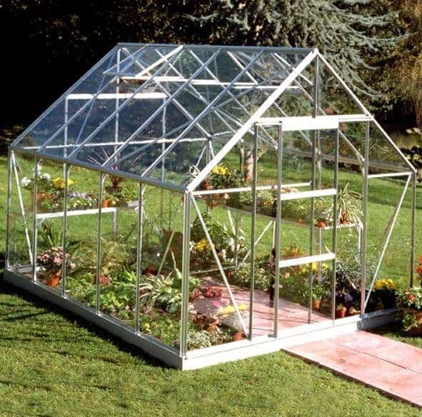 10 x 8 Halls Silver Aluminium Universal Greenhouse with Vent