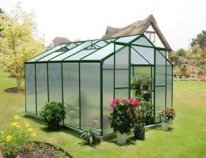 10' x 8' Nison Eazi Click Green Polycarbonate Greenhouse