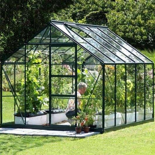 10 x 8 Vitavia Neptune 8300 Green Apex Greenhouse