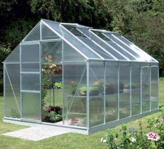 10 x 8 Vitavia Neptune 8300 Silver Apex Greenhouse