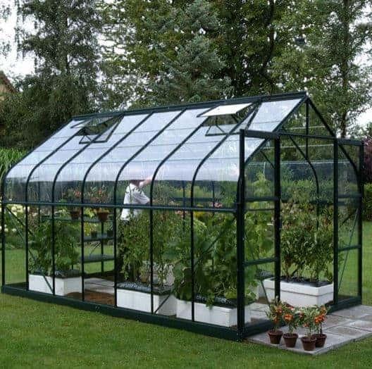 10 x 8 Vitavia Saturn 8300 Green Apex Greenhouse