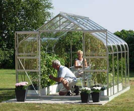 10 x 8 Vitavia Saturn 8300 Silver Apex Greenhouse