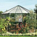 12 x 11 Vitavia Hera 9000 Green Glass Greenhouse