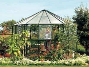 12 x 11 Vitavia Hera 9000 Green Glass Greenhouse