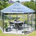 12 x 11 Vitavia Hera 9000 Silver Glass Greenhouse