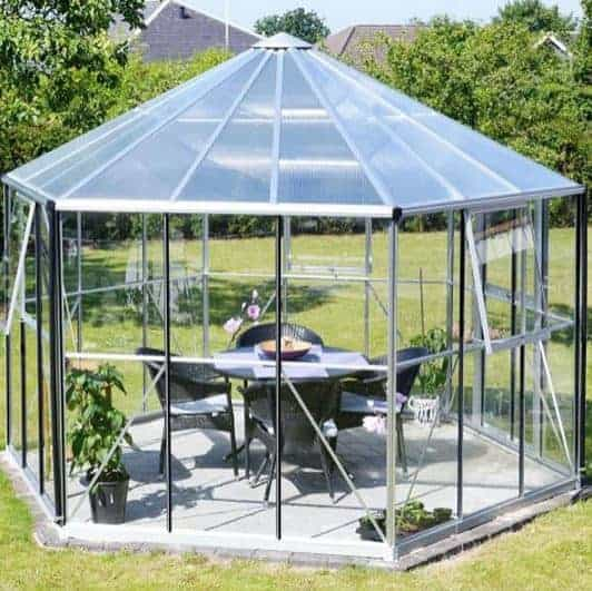 12 x 11 Vitavia Hera 9000 Silver Glass Greenhouse