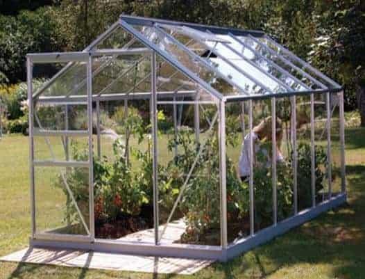 12 x 6 Vitavia Venus 7500 Silver Apex Greenhouse