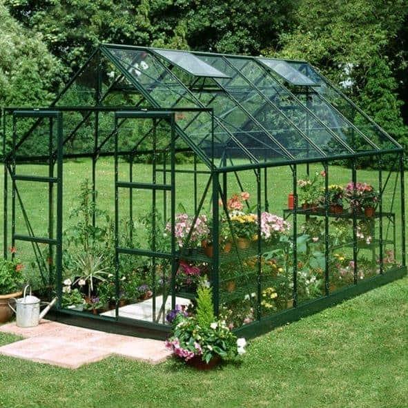 12 x 8 Halls Green Aluminium Magnum Greenhouse with Vent