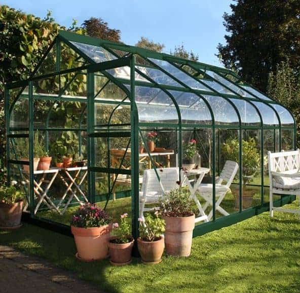 12 x 8 Halls Green Aluminium Supreme Greenhouse with Vent