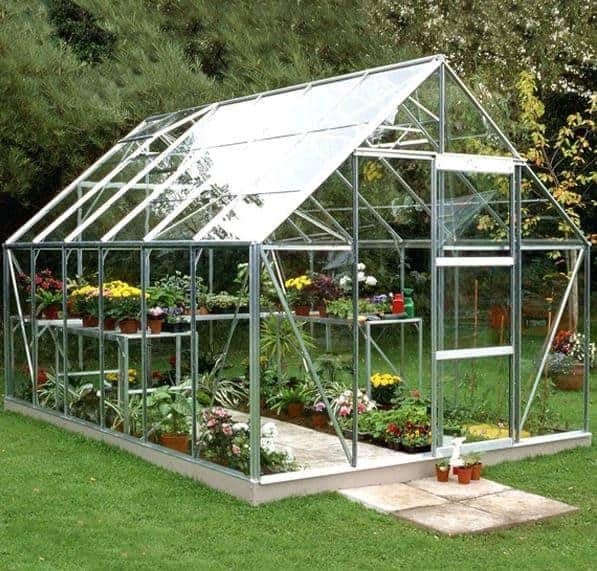 12 x 8 Halls Green Aluminium Universal Greenhouse with Vent