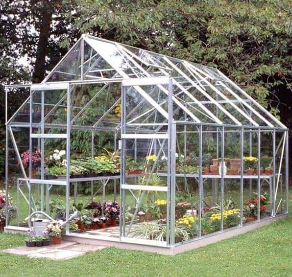 12 x 8 Halls Silver Aluminium Magnum Greenhouse with Vent