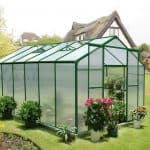 12' x 8' Nison Green Polycarbonate Greenhouse