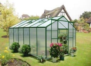 12' x 8' Nison Green Polycarbonate Greenhouse