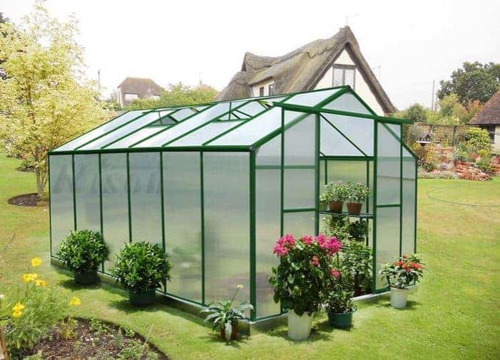 12' x 8' Nison Green Polycarbonate Greenhouse - What Shed